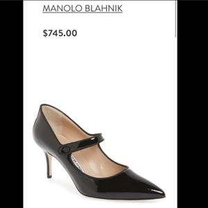 Manolo Blahnik size 38 may jane patent leather